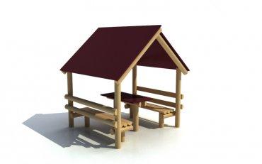 Domček s lavičkami a stolíkom - D2