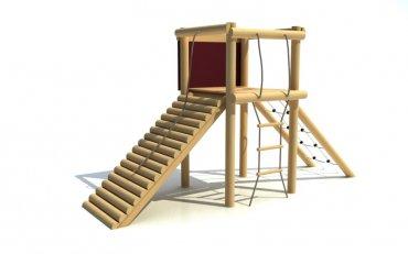Rozhľadňa so sieťou, rebríkom, šikmým chodníkom, výška podstavy 1, 0 m - B1a