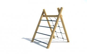 Preliezačka s reťazovou sieťou a rebríkom, výška 1,2 m - P8b