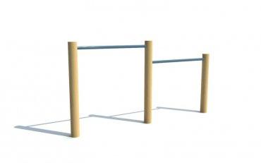 Dvojitá hrazda, výška hrazd 0,8 a 1,0 m - T6a