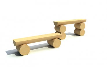 Lavička jednoduchá nízka, dĺžka  1 m, výška 0,25 m - L1