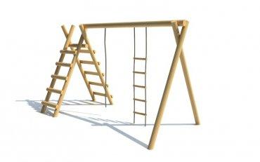 Konštrukcia s lanovým rebríkom, rebríkom a  lanom - H8