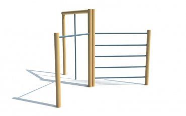 Preliezačka so šplhadlom, rebrinami a hrazdou, výška 2,1 m - P2