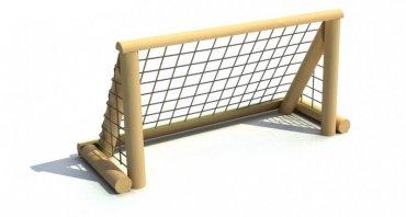 Futbalová branka 1,5 x 0,8 m so sieťou na kovových pätkách - T8