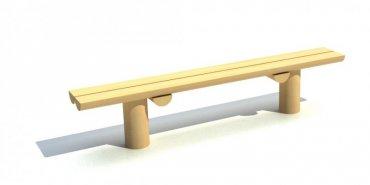 Lavička na dvoch kôloch, dľžka 1,5 m - L6