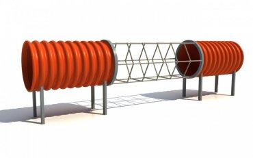 Tunelová preliezačka so sieťou DN 500 dĺžka 3,5 m - T11
