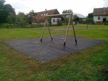 Dopadová plocha - Zatrávňovacie doska Grass 1000x1000x23