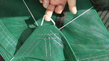 Posuvné zatienenie a zakrytie pieskoviska so sieťou SIO-LINE , farba modrá, červená, žltá alebo zelená, s cloniacou schopnosťou 85% (dvojité využitie)